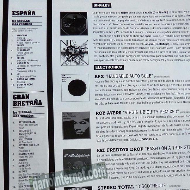 Music Charts Autumn 2005