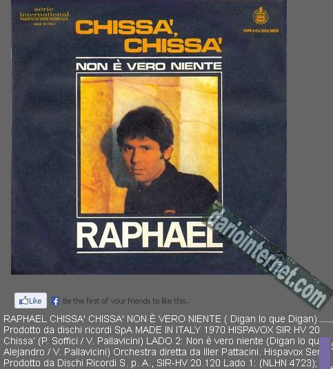 Raphael - Non e' vero niente