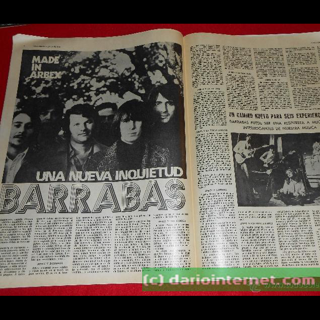 Magazine article 1972 presenting Barrabas