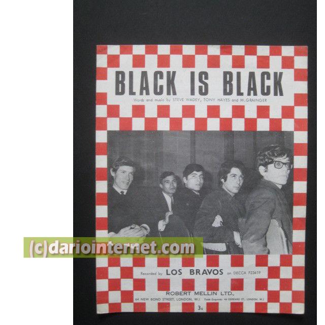 Black is Black music sheet (pentagram)