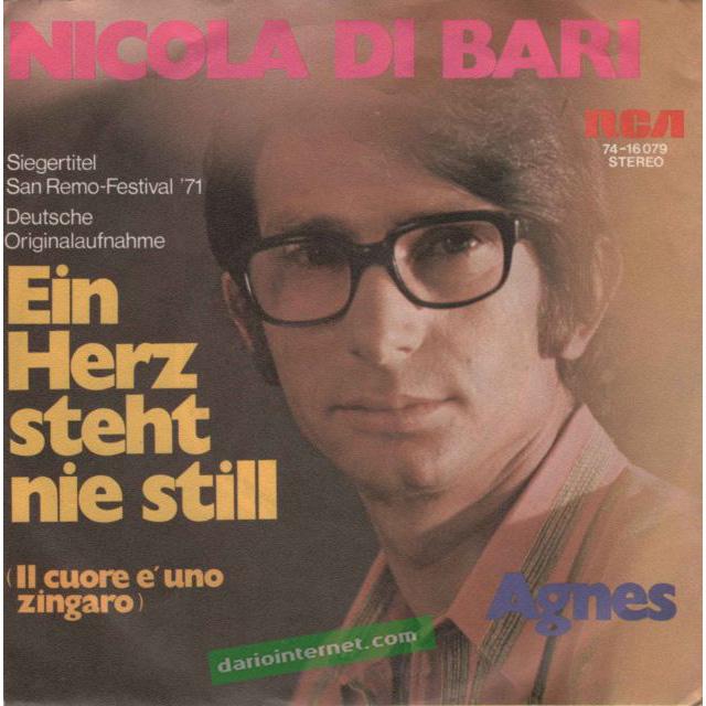 Nicola di Bari in Tedesco 45 Giri