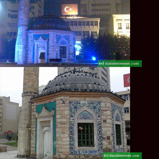 Izmir Turkey Konak Camii Day and Night