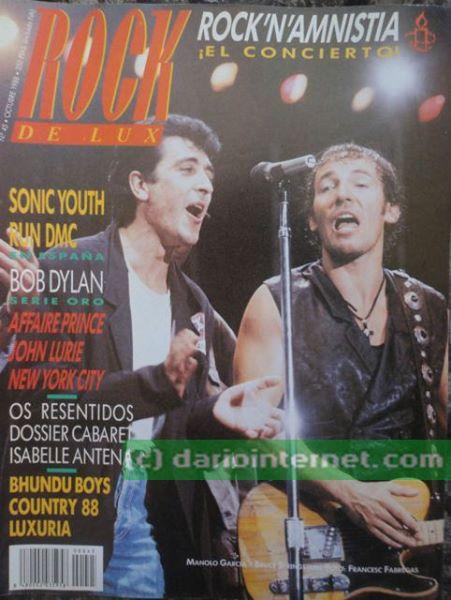 Rock n Amnistia Mag Cover Bruce Springsteen El Ultimo De La Fila