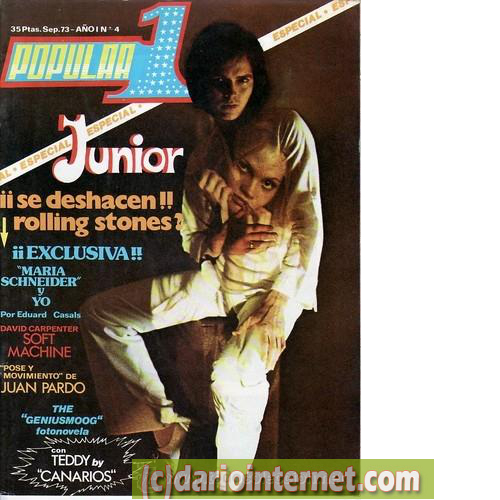 Popular 1 magazine from 1973 with Junior (RIP) on the cover