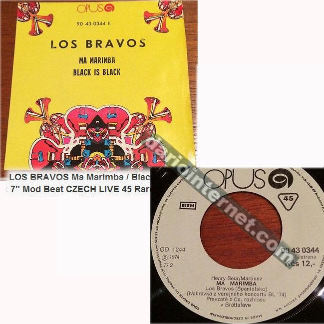 Rare Czechoslovakian live Los Bravos 45rpm recorded in Bratislava 1974